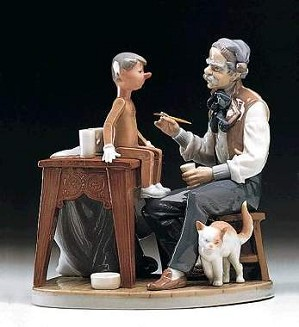 Lladro-The Puppet Painter
