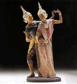 Lladro-Thai Couple