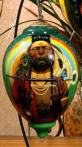 Thomas Blackshear Neqwa-Indian Paint Brush Neqwa Ornament