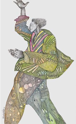Charles Bibbs-Victory Coat  - Hand Enhanced Giclee