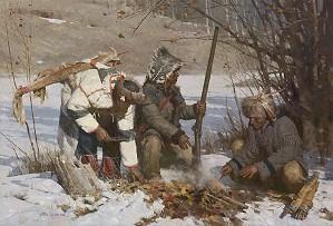 Z.S.  Liang-Assiniboine Hunters