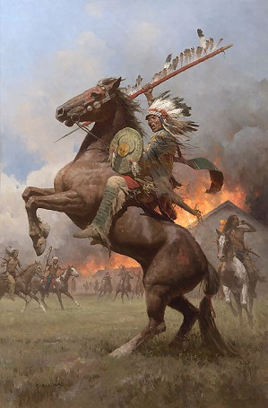 Z.S.  Liang-Cheyenne Burning of Fort Phil Kearney, 1868 Master Works
