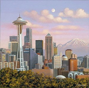 Liudmila Kondakova-Seattle Skyline