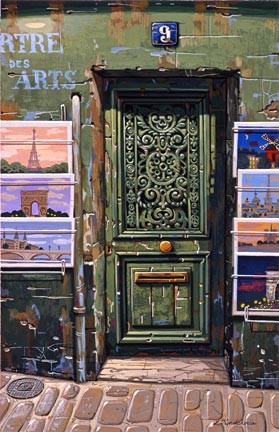Liudmila Kondakova-The Green Door