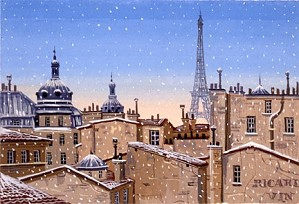 Liudmila Kondakova-Snow Fall In Paris