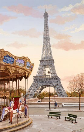 Liudmila Kondakova-Carousel A La Tour Eiffel