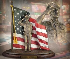 Michael Garman-Defenders of Freedom Thin Blue Line Bronzetone
