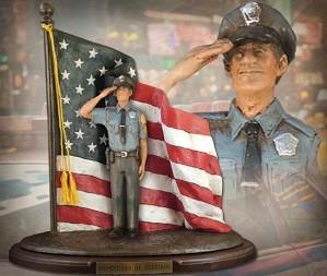Michael Garman-Defenders of Freedom Thin Blue Line Handpainted