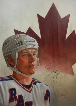 Mike Kupka-Adam Graves - Oil on Illustration Board Signed by Graves
