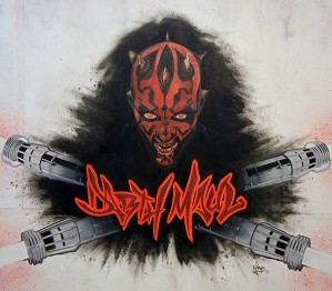 Mike Kupka-Darth Maul Graffiti - Oil on Illustration Board