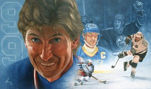 Mike Kupka-Wayne Gretzky Montage - Oil on Canvas
