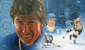 Mike Kupka-Wayne Gretzky Montage - Oil on Canvas