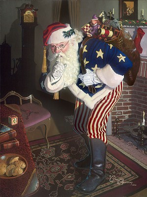 Dean Morrisey-The Promise of Peace and Tranquility - Father Christmas During the Civil War