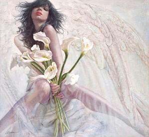 Arian-Amaranthine Giclee On Canvas