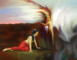 Fidel Garcia-Dreams of a Journey Giclee on Canvas