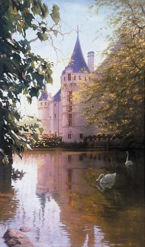 Arian-Le Chateau Giclee On Canvas