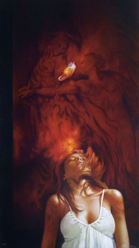 Arian-Rapture Giclee On Canvas