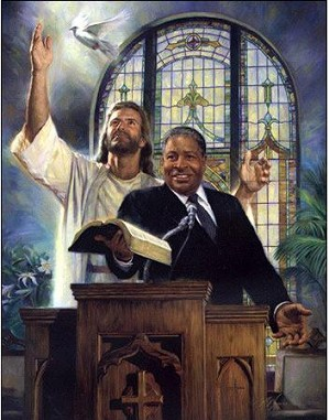 Nathan Greene-Preaching The Word Canvas Giclee