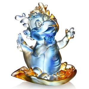 Liuli Crystal-Zodiac (Dragon, The Light of Future) - Little Ambitious Dragon