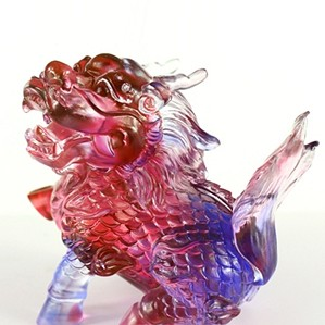 Liuli Crystal-Auspicious Qilin