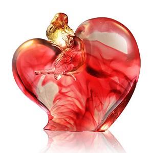 Liuli Crystal-Handcraft Crystal Bird Figurines (Romance and Love) - Amorous Words