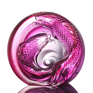 Liuli Crystal-An Unfettered Pair - paperweight