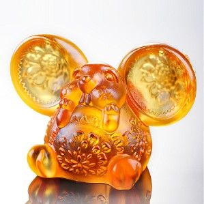 Liuli Crystal-Zodiac Collection (Rat, Talented) - Come Fortune