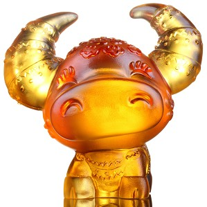 Liuli Crystal-Zodiac Collection (Ox, Confident) - Horned Fortune
