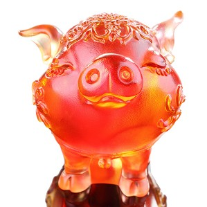 Liuli Crystal-Zodiac Collection (Pig, Aura of Elegance) - Haha