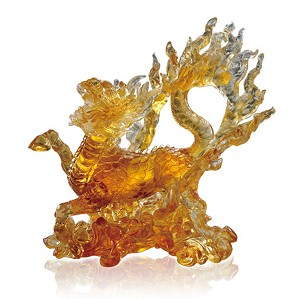 Liuli Crystal-Mythical Creature (Auspicious Acquisition) - Qilin of the Center – The Joy Amongst Us