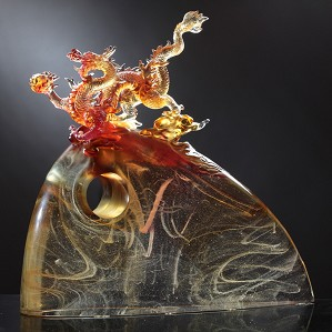 Liuli Crystal-Appearance of the Influential Dragon(with gilding)