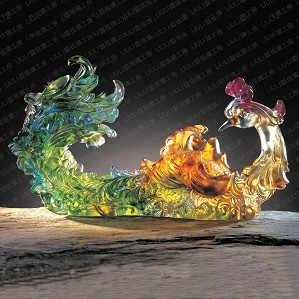Liuli Crystal-Phoenix (Prosperity, When the Time is Right) - Outstanding Beauty