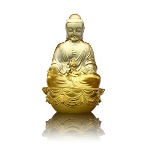 Liuli Crystal-Amitabha Buddha - Buddha Figurine (Accompanied by Peace and Joy)