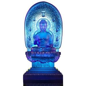 Liuli Crystal-Blue Medicine Liuli Buddha - Healing Buddha - Good Health, Peace