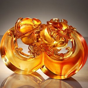 Liuli Crystal-Golden Fruit of Prosperity