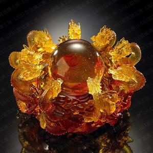 Liuli Crystal-The Yin Yang Cycle of Nine Dragons