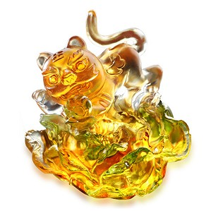 Liuli Crystal-Laughing Tiger in Bloom