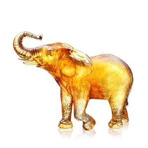 Liuli Crystal-Elephant (Joyful Life) - Bath in Happiness