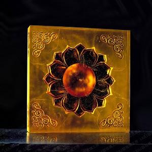Liuli Crystal-Buddha, Flower