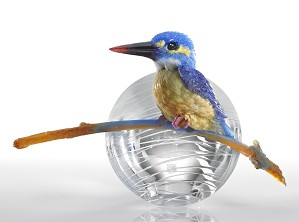 Liuli Crystal-Kingfisher