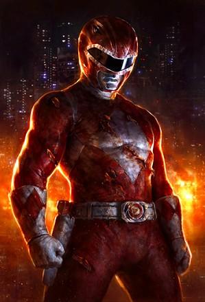 Dave Rapoza-Red Ranger Metalic Print