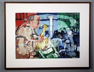 Romare Bearden-Bopping At Birdland Artist Signed