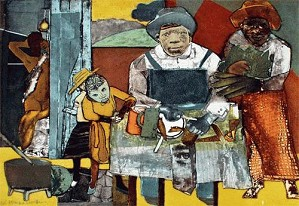 Romare Bearden-The Family Artist Signed