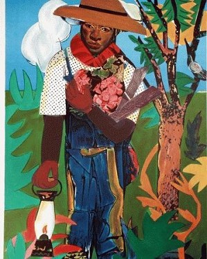 Romare Bearden-The Lantern Artist Signed