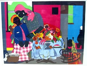 Romare Bearden-Morning Artist Signed