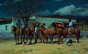 Ron S. Riddick-Early To Bed Early To Ride Limited Edition Print
