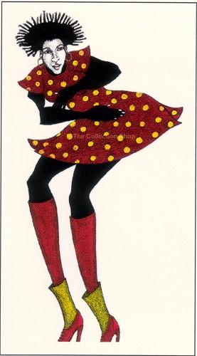 Charles Bibbs-Red Dress #2 Giclee