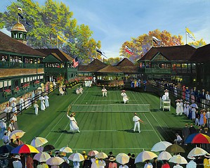 Sally Caldwell Fisher-Newport Tennis Limited Edition Canvas