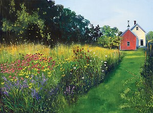 Sally Calwell Fisher-This Meadow Garden Limited Edition Canvas