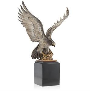 Jay Strongwater-Baldwin Falcon Figurine